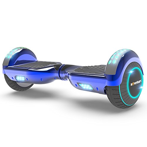 - Hoverboard Lithium-Free Two-Wheel Self Balancing Electric Scooter UL 2272 Certified, Metallic Chrome LED Light (Chrome Blue)