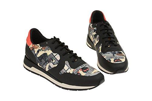 Geox  D64n1b 000l1c9999, Chaussures à lacets et coupe classique femme Schwarz
