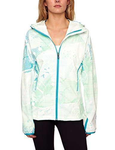 Salomon Women's Champel Softshell Hoody Medium White/Light Mint/Bay Blue by Salomon