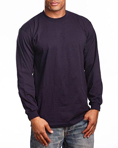 PRO 5 Super Heavy Mens Long Sleeve T-Shirt, 5XL, Navy