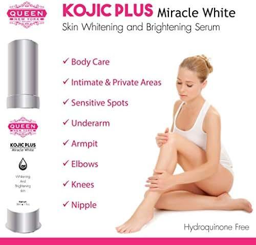Kojic Acid Plus Skin Whitening & Underarm Cream-3% Kojic Acid, Glutathione, Niacinaminde(B3)–Maximum Strength Brightening–Dark Spots, Hyperpigmentation, Melasma and Sun Damage (2 Bottles)