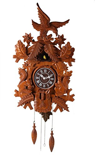(Deluxe 16-inch Eagle and Squirrel Cuckoo Clock, Home Decor, Specialty Quality, Quartz Timepieces - C00121)