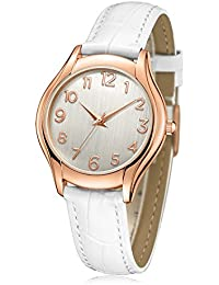 Womens Wrist Watch, Arabic Numeral Rose Gold Simple Business Casual Fashion Classic Analog (Quartz