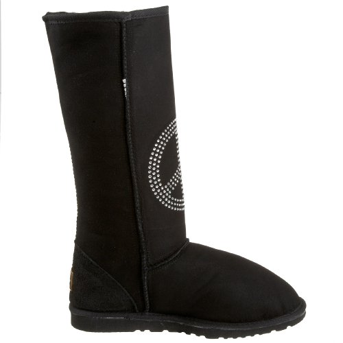Koolaburra Unisex Flash Fred Tecken Fårskinn Boot Svart