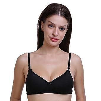 af3de6fa493 SMEXY Latest Women Black Cotton Full Coverage Bra Latest-Bra-Foam-Black 38   Amazon.in  Clothing   Accessories