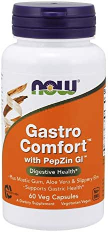 Now Supplements, Gastro Comfort, Plus Mastic Gum, Aloe Vera and Slippery Elm, 60 Veg Capsules