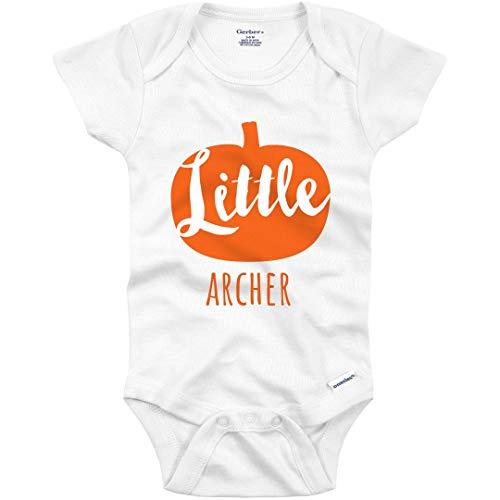 (Little Halloween Pumpkin Archer: Infant Gerber Onesie)
