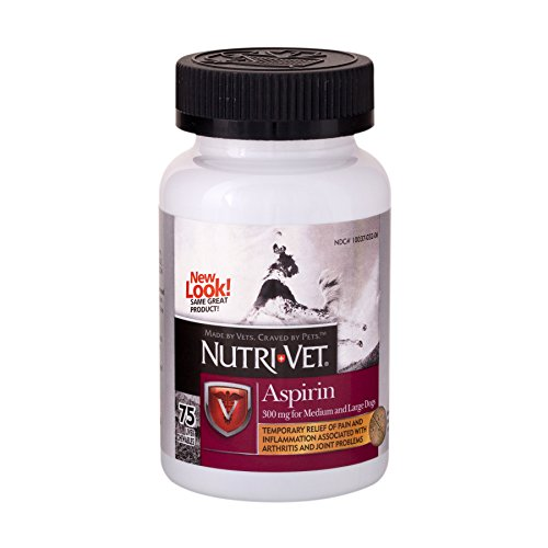 Nutri-Vet K-9 Aspirin 300mg Chewables for Medium and Large Dogs - 75 count