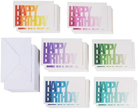 Amazon.com: Tarjeta de cumpleaños – 144 unidades de tarjetas ...
