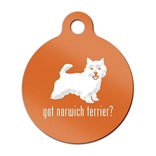 Norwich Terrier Keychain - Got Norwich Terrier Engraved Keychain / Round Tag with Tab Mister Petlife Orange