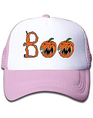 Halloween Boo3 On Children's Trucker Hat, Youth Toddler Mesh Hats Baseball Cap