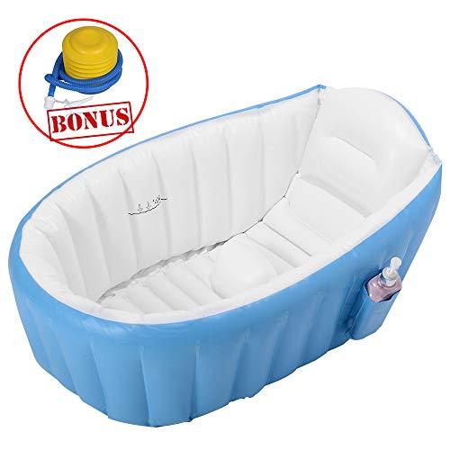 EOSAGA Baby Inflatable Bathtub Portable Mini Air Swimming Pool Toddler Thick Foldable Shower Basin - Pool Bathtub