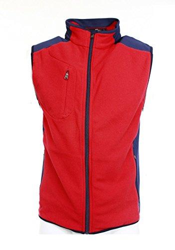 RLX Ralph Lauren Golf Men's Microfleece Full-Zip Vest (Large, Injection Red)