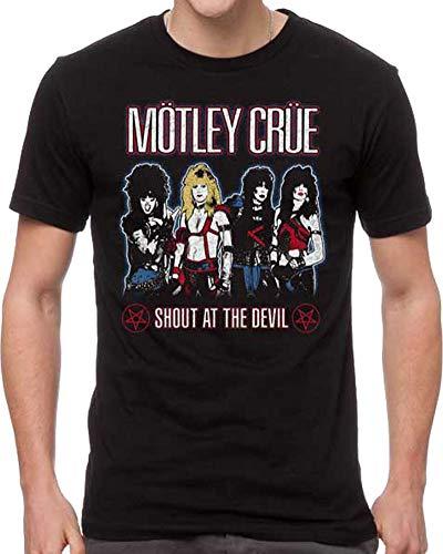 Motley Crue Men's Shout at The Devil T-Shirt Black (Medium)