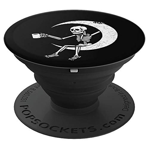 For First Coffee Skeleton Coffee Lovers Art Graphic Gift - PopSockets Grip and Stand for Phones and Tablets