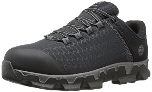 Mens Steel Toe Electrical - Timberland PRO Men's Powertrain Sport Alloy Toe EH Industrial & Construction Shoe, Black Synthetic, 11.5 M US