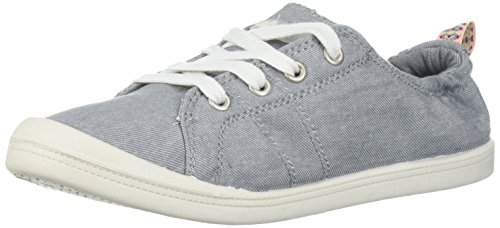 Slip De Lacet De Mousse De Mémoire De Genius De Sucre Sur La Mode Sneaker Coton Lavé Gris