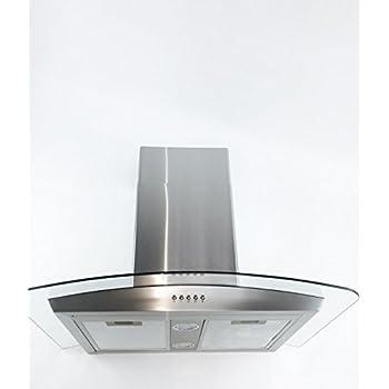 Cavaliere  Wall Mounted Stainless Steel Glass Kitchen Range Hood