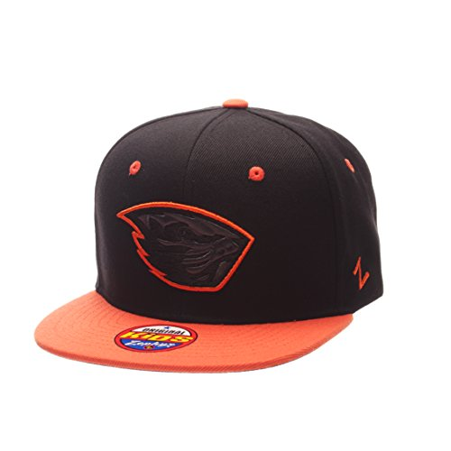 (Zephyr NCAA Oregon State Beavers Children Boys Youth Z11 Phantom Snapback Hat, Adjustable Size, Black/Team Color)