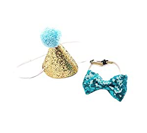 Pet Dress Up Supplies Pet Supplies Teddy Dog Cat Tie And Bow Tie Pet Christmas Party Decor Hat Cute Birthday Hat Party Supplies