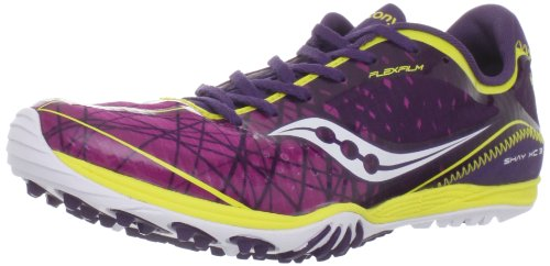Saucony Women's Shay XC3 Flat Running Shoe - Purple/Yello...