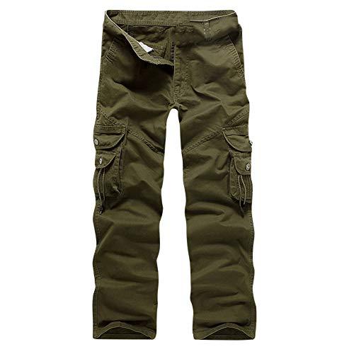 In Army Uomo Green Lunghi Pantaloni Da tasca Cargo Casual Multi Cotone Lavoro 0Cv4wxvq