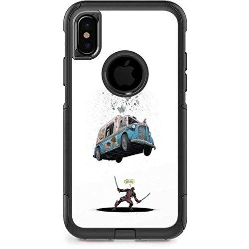 Skinit Marvel Deadpool OtterBox Commuter iPhone X Skin - Deadpool I Scream For Ice Cream Design - Ultra Thin, Lightweight Vinyl Decal Protection -