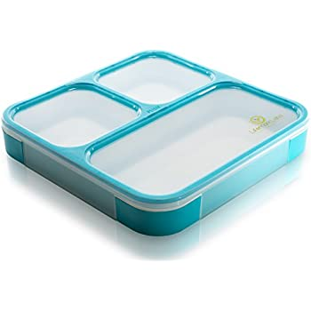 bento lunch box by lifemark labs stylish leakproof lunch kit with 3 compartments. Black Bedroom Furniture Sets. Home Design Ideas