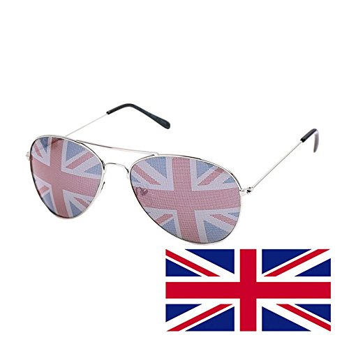 Kerkhoff Style Fashion Men's UK Flag Aviators Style - Sun Uk Glasses