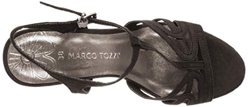 2 22 Para Tozzi Plana Marco 001 2 Sandalias Plataforma 28332 Con Mujer black Negro wFIEWznqW