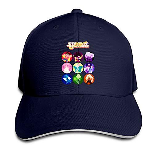 ChinbelBay Adult Unisex Funny Steven Universe Adjustable Sandwich Baseball Caps Hats for Men's&Womens Navy]()