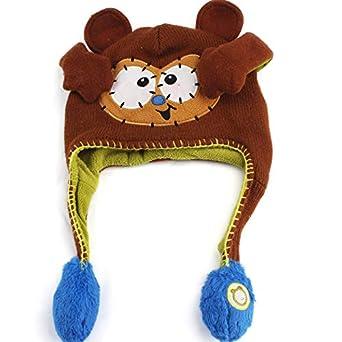 TiTCool Lovely Toddler Baby Girls Boys Winter Warm Flipeez Hat Vivid Animal  Pattern Children Knitted Cap ... 6e4eb1ae5c19