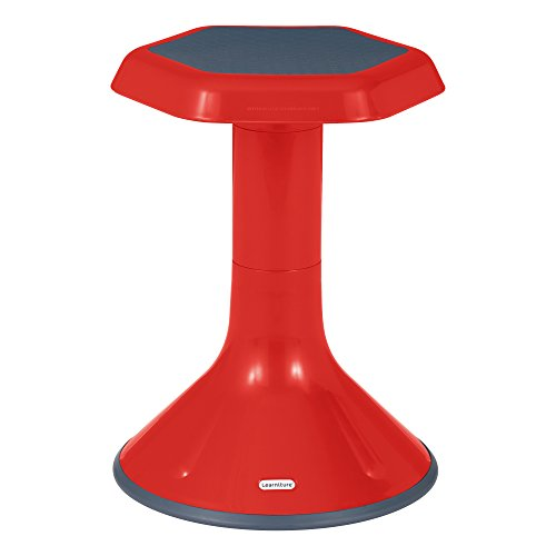 Learniture Active Learning Stool, 18' H, Red, LNT-3046-18RD
