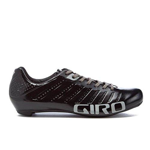 Giro Empire Nero Argento Bici Da Corsa Scarpe Taglia 40.5