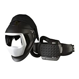 3M 35-1101-00SW Powered Air Purifying Respirator High Efficiency System with 3M Speedglas Welding Helmet 9100-Air, Lithium Ion Battery and Side Windows (Auto-Darkening Filter Sold Separately)