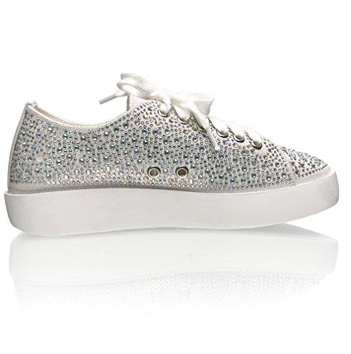 Marc Defang New York Kvinna Ab Kristaller Mode Sneakers - Flottören