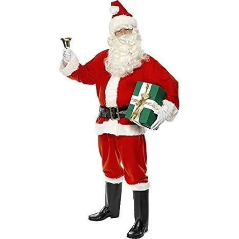 Vestito Babbo Natale Taglia 60.Net Toys Costume Babbo Natale Rosso Taglia Xl 60 62