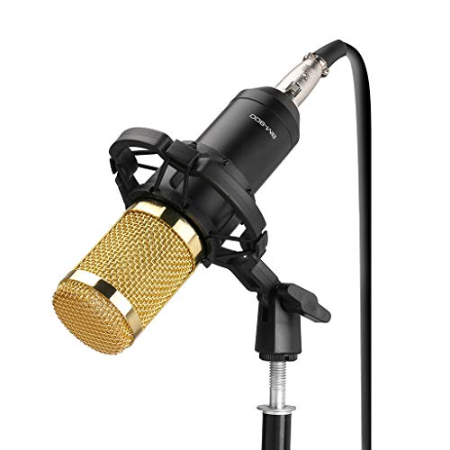 (MChoice❤️Condenser Pro Audio BM-900 Microphone Sound Studio Dynamic Mic +Shock Moun (Black))