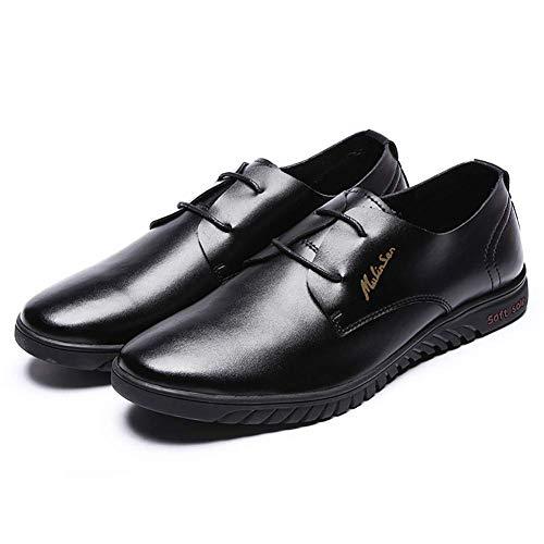 US Color 5 9 6 NEGRO vestido tamaño para hombre 5 cordones UK US para ocasionales de Zapatos Color de 5 Marrón cómodos hombres Zapatos Negro con negocios Talla redondo 5 5 de UK 8 cuero THqnRfwa1