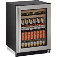 U-Line U1024BEVS00B 5.4 cu. ft. Capacity 24 1000 Series Freestanding or Built In Full Size Beverage Center in Stainless Steel