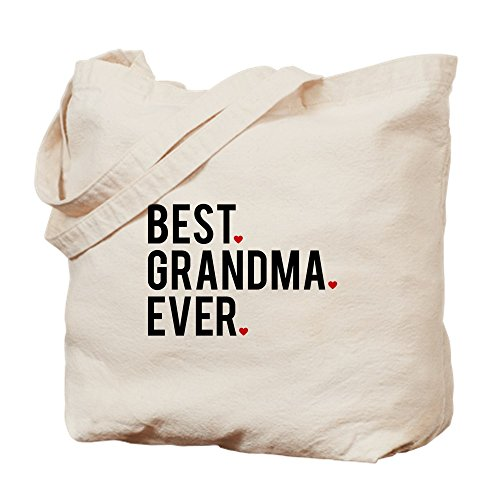 CafePress - Best Grandma Ever - Natural Canvas Tote Bag, Cloth Shopping Bag