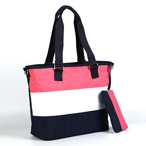 vbag bebé bolsa de pañales bolsa de hombro morado morado rosa
