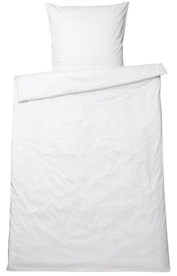 Graser Bettwäsche Garnitur Glatt Satin 135 X 200 Cm Weiß Amazon