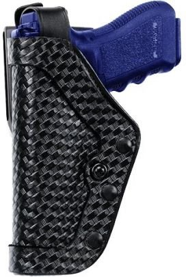 (Uncle Mike's Mirage Basketweave Nylon Pro-2 Dual Retention Duty Jacket Holster (22, Left Hand))