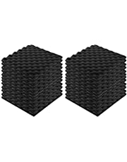Lixada 24pcs Recording Soundproof Foam Video Room Sound Noise Insulation Sponge Wall Deadening