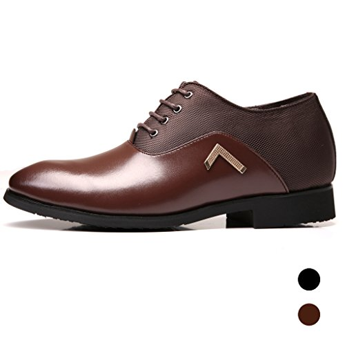 2027941c534e AMAPO 2017 New Mens Breathable Business Shoes PU Leather Hidden Heel Shoes  Elevator Height Incresing Dress