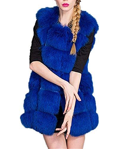 Pulls Tops Blousons Femmes Automne Mode Hiver Manteaux Chaud Casual Jacket Outerwear sans en Fausse Coat Gilets Manche Vestes Hauts Fourrure Elgante A5qRPR6xw