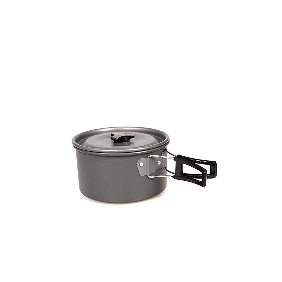 Oceanheart Portable Camping Cookware Set Camping Pots Aluminum Cooking Pan for Picnic, Outdoor Camping, Hiking, Backpacking