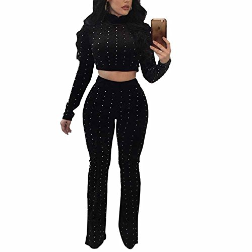 Joe Wenko Womens Long-Sleeve Off Shoulder Romper Velvet Sport Jumpsuits