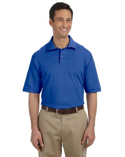 (Jerzees Adult Ring-Spun Cotton Pique Sport Shirt (Royal) (4X))